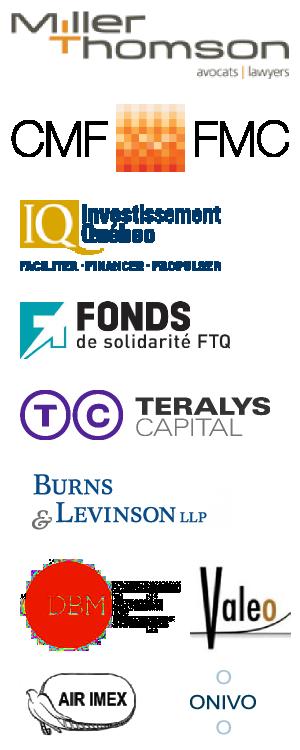 Nos commanditaires : Miller Thomson, Fonds des Medias, Investissement Québec, Fonds de Solidarité FTQ, Teralys Capital, Burns & Levinson LLP, Deveaux Brault Munger, Valeo